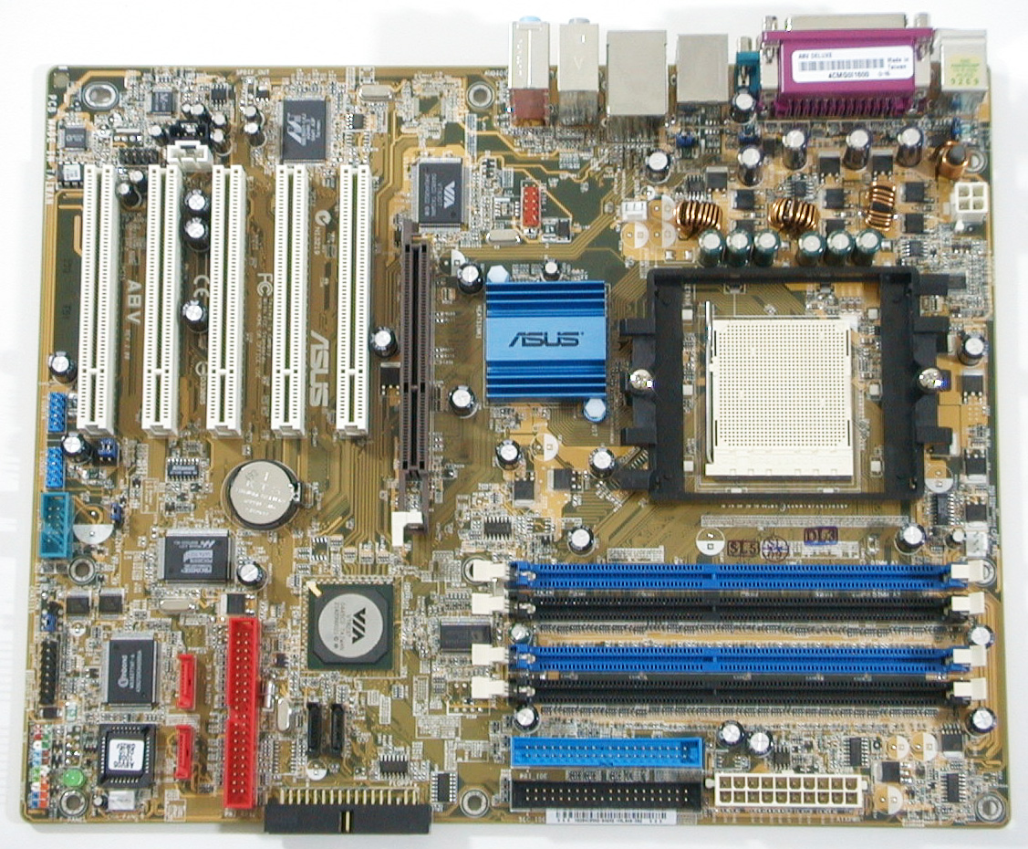Install SATA hdd on ASUS A8V Deluxe Motherboard