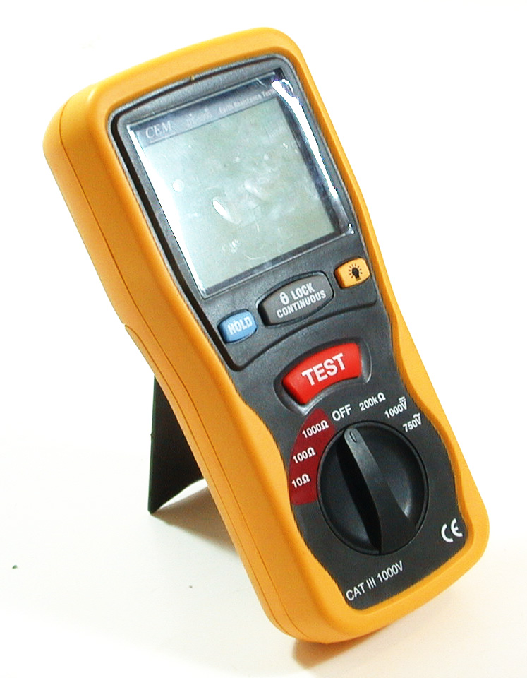 Electrical Resistance Meter : Dt digital earth ground resistance tester ohm dc ac